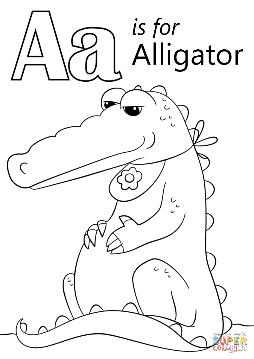 Letter A Is For Alligator Coloring Page Free Printable Coloring Pages Abc Coloring Pages Abc Coloring Preschool Coloring Pages