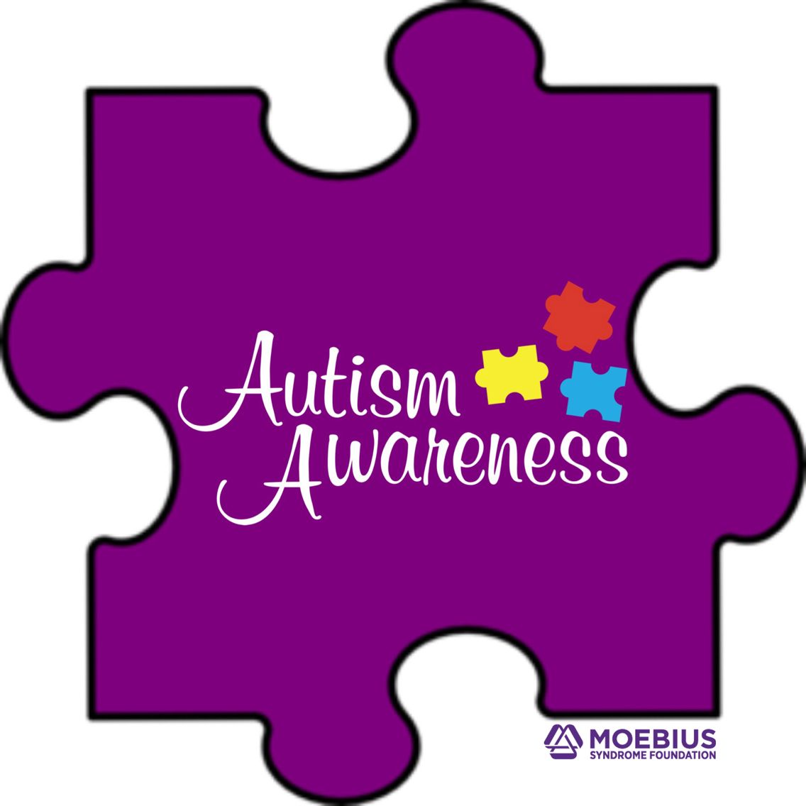 Celebrating #autismawareness and supporting those in the #MoebiusSyndrome community affected by #autism.