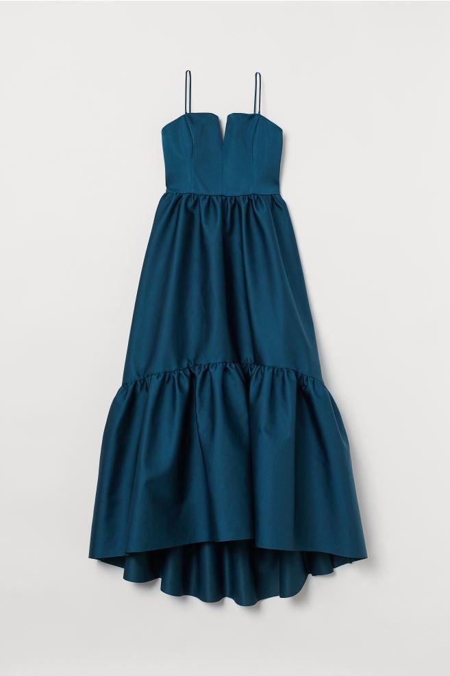 Langes asymmetrisches Kleid - Dunkelpetrol - Ladies | H&M ...