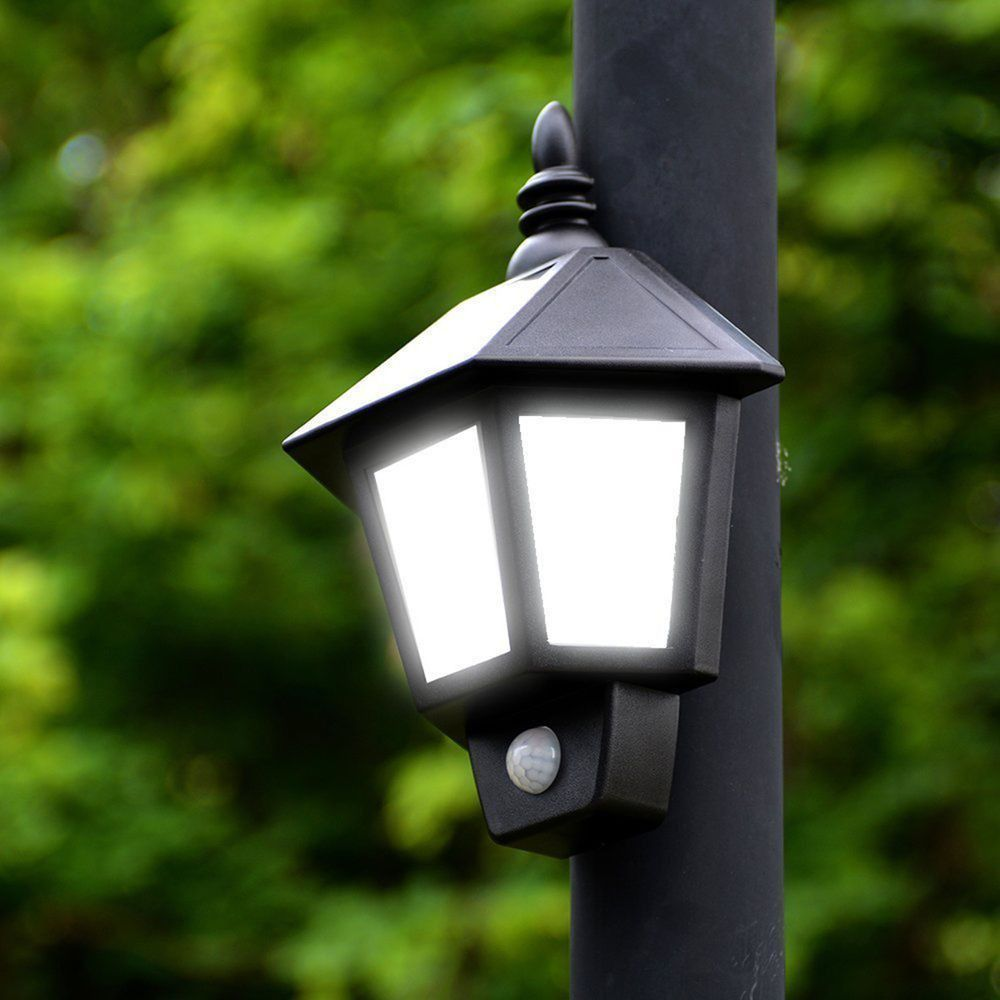 Solar Outdoor Led Wall Light Home Decor Color Solar Power Pir Motion Sensor Wall Light Outdoo In 2020 Led Outdoor Lighting Outdoor Lighting Porch Lighting