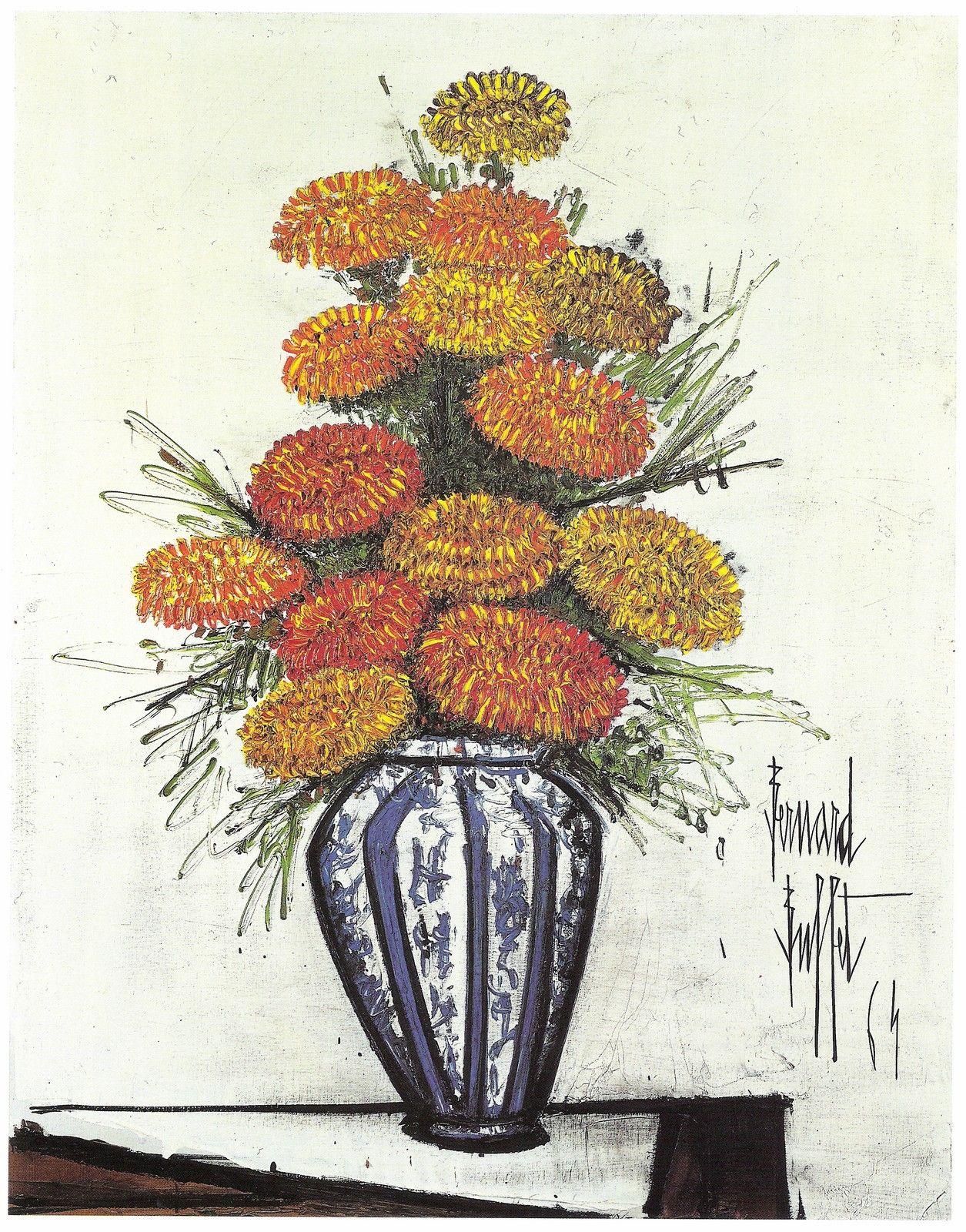 Buffet Bernard | Peinture fleurs