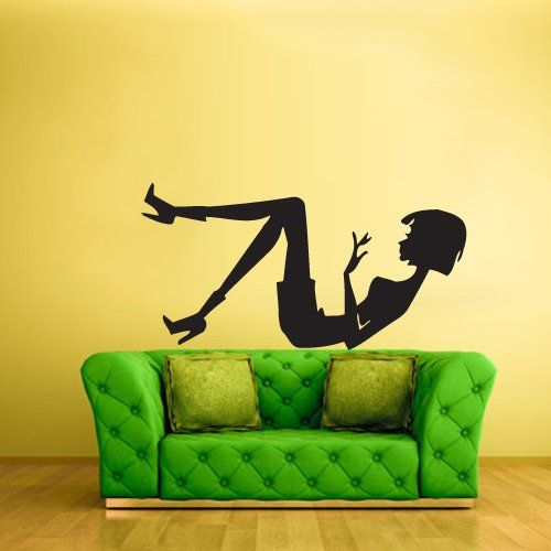 Wall Decal Vinyl Sticker Decals Lady Girl Modern Design Fashion Silhouette (Z1895) StickersForLife http://www.amazon.com/dp/B00FMJL0A8/ref=cm_sw_r_pi_dp_kRqfvb02XGS87