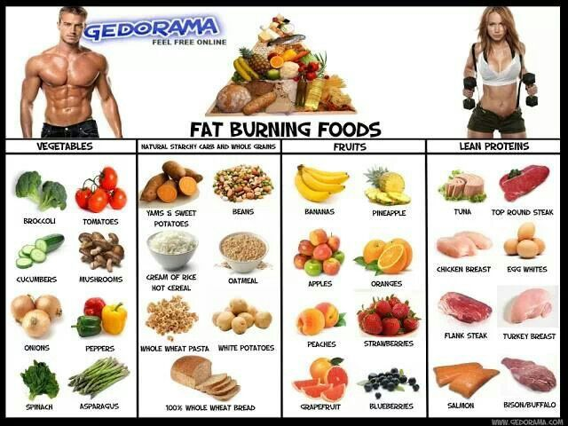 list burn fat diet and exercise plan