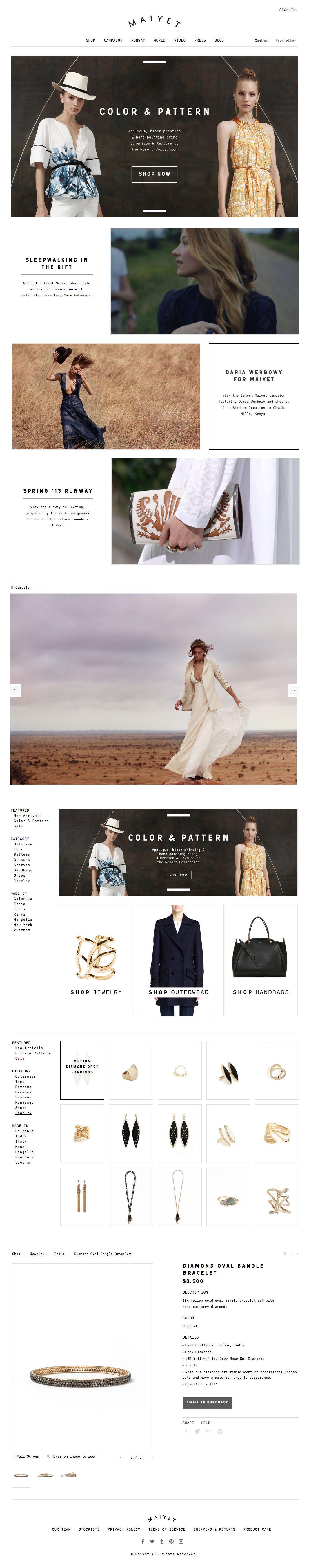 http://maiyet.com web design / fashion web design
