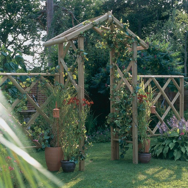 Forest Rose Arch A Traditional Rose Garden Arch Made From Pressure Treated  Rustic Timber