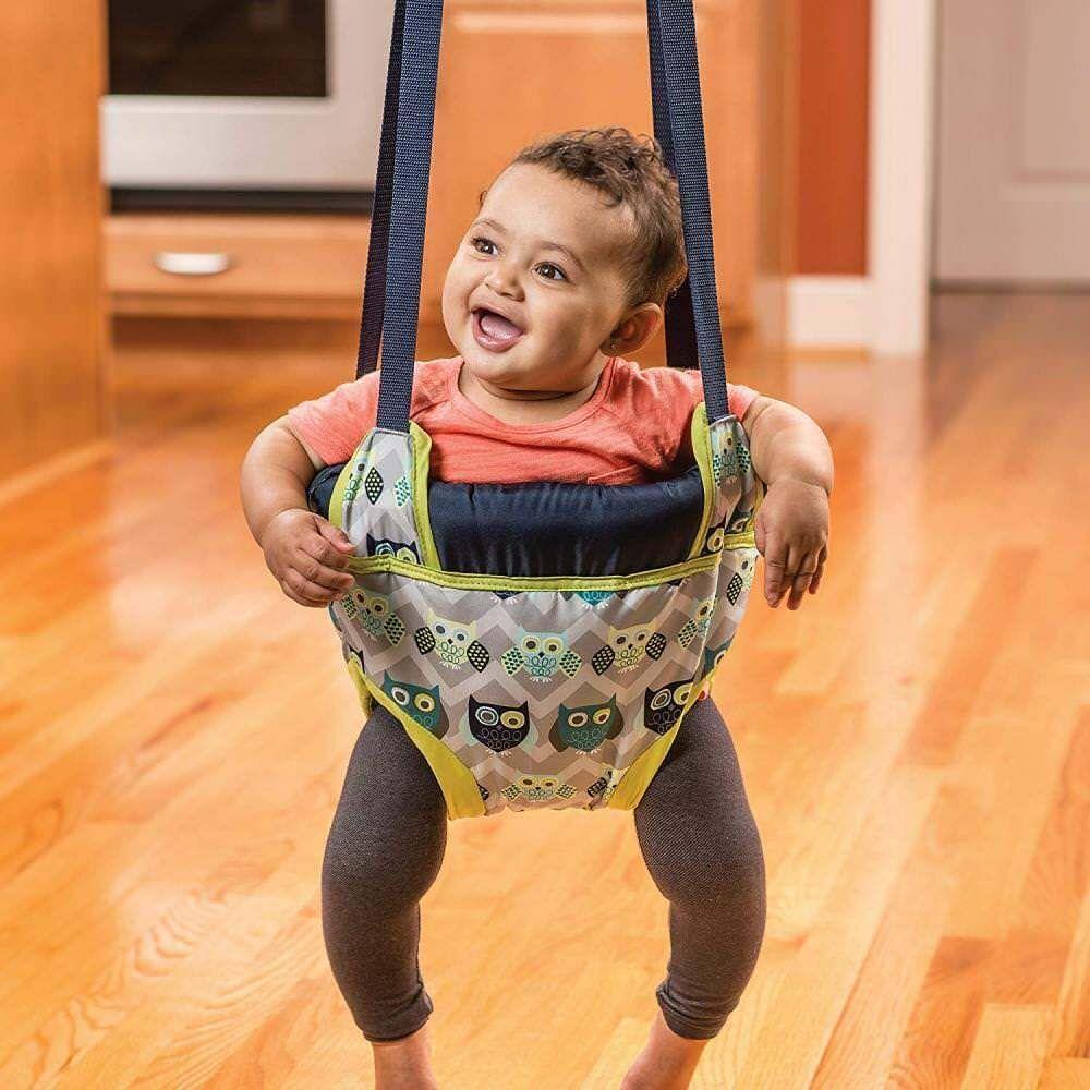 04ef69448de8 Details about Baby Door Jumper Owl Bouncer Doorway Swing Jump Up ...