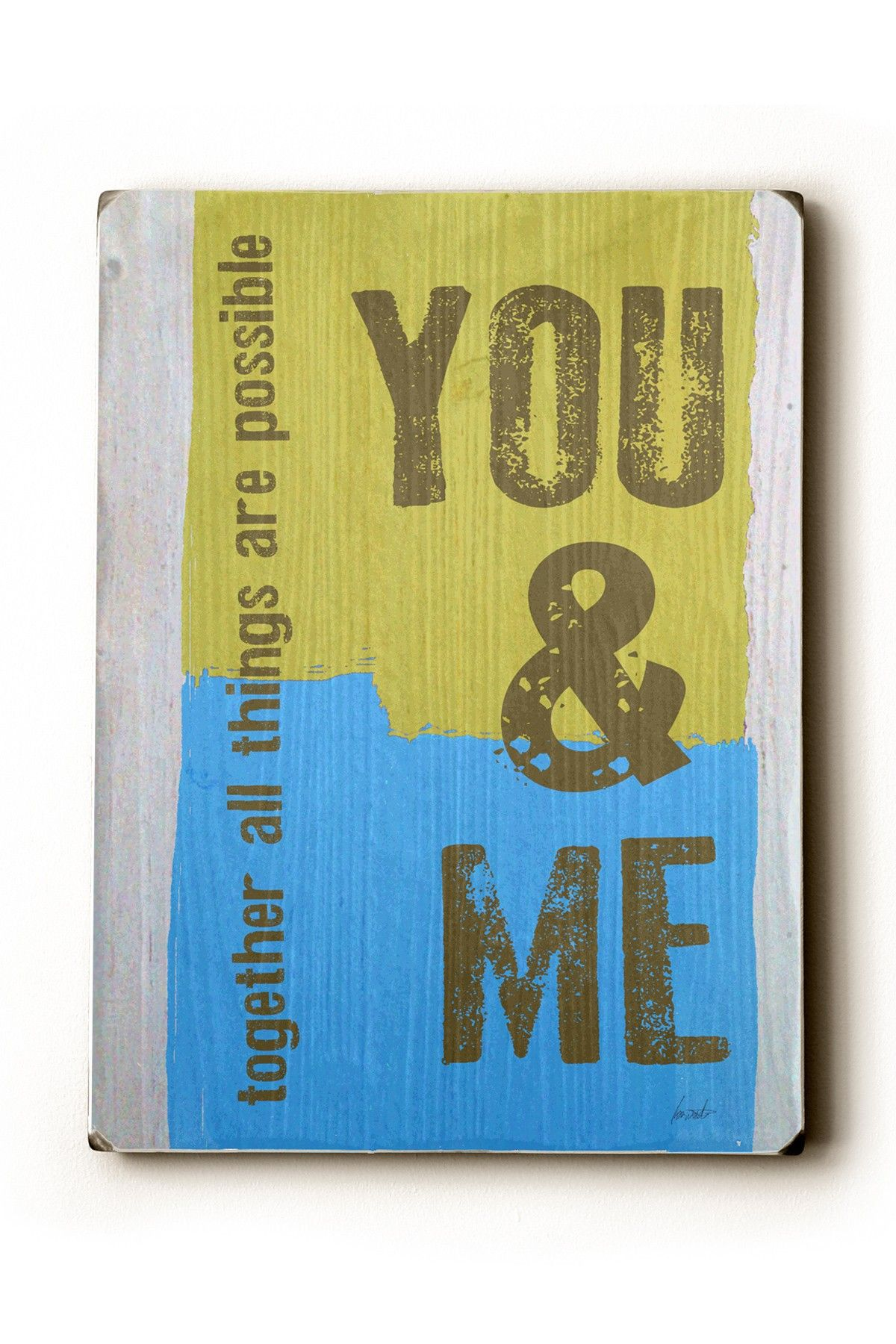You Me Wall Art Wood Wall Art on HauteLook | Wall Art Ideas, & Craft ...