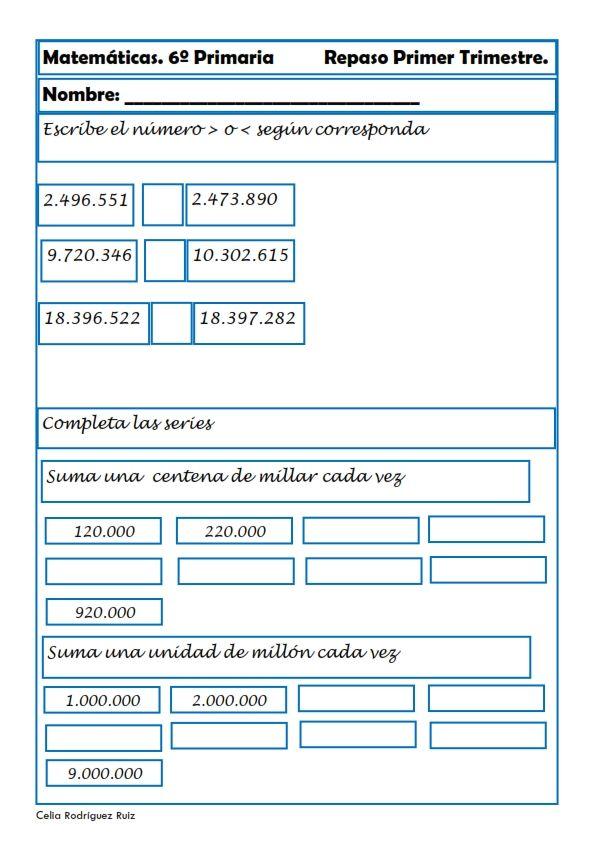 Ejercicios De Matemáticas Para Sexto De Primaria Matematicas Matematica Ejercicios Ejercicios Matematicas Primaria