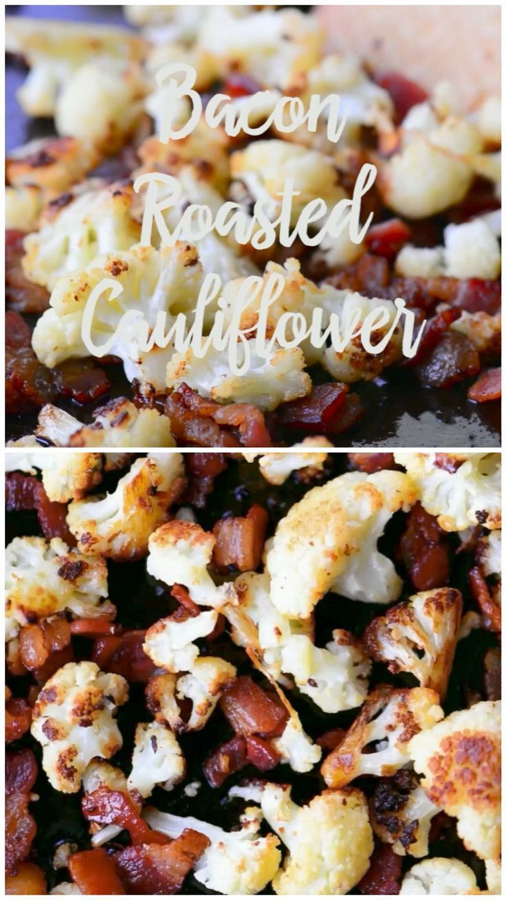 Photo of This Bacon Roasted Cauliflower recipe is a great snack or side dish and its the …