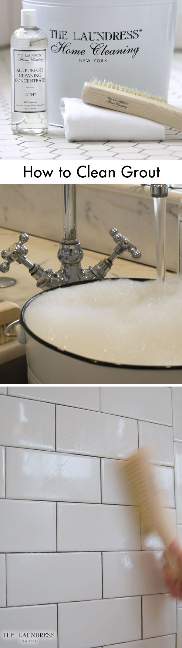 Unsightly grout build-up isn\'t what you want to see in your shower ...