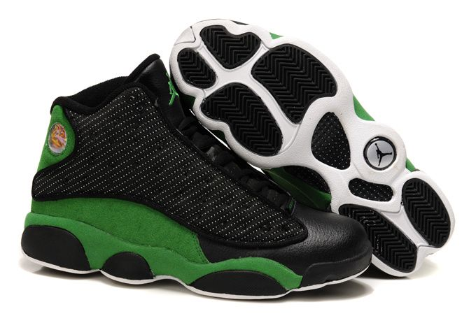 Cheap Original Nike Air Jordan 13 Phat Retro Black And Lucky Green Sneaker  Clearance Store