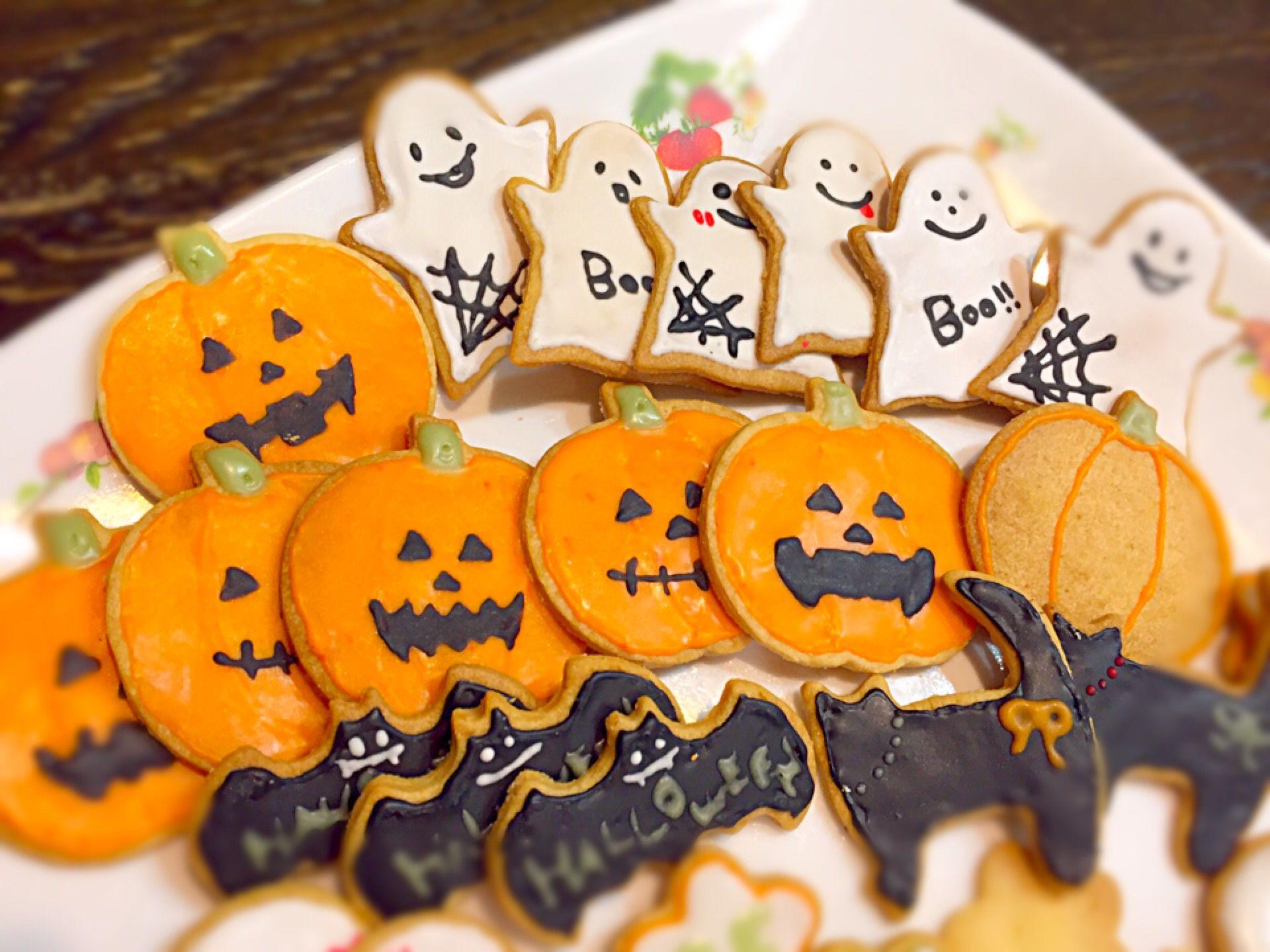 happy Halloween アイシングクッキー初挑戦 Halloween アイシングクッキー【2020