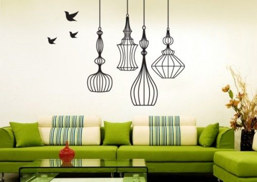 Wall Decals Vs Painted Murals With Images Wall Paint Designs Home Wall Decor Simple Wall Paintings