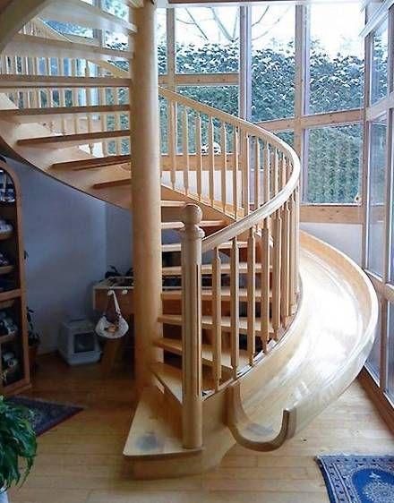 escalera tobogan espiral