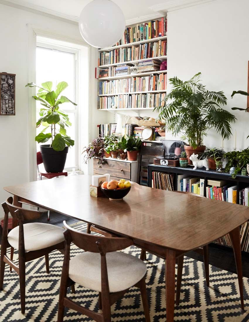 Storied Finds Enrich A Bed Stuy Brooklyn Duplex DesignSponge Book TableDining