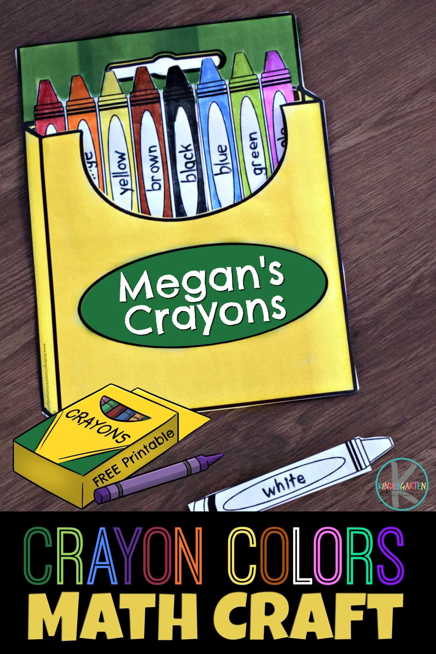 Free Crayon Box Colors Math Craft