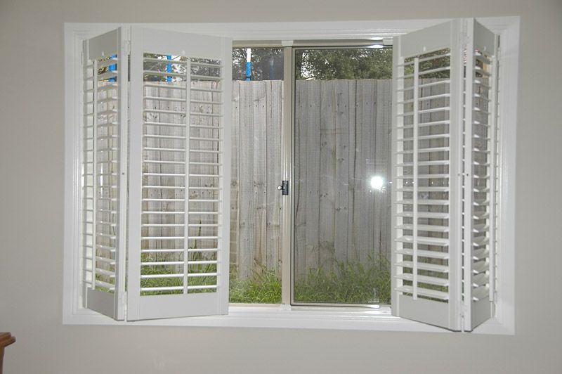 Amazing Window Shutters, For Our Bedroom Windows, But It Cream, And Only Half Of  The Window So I Can Still Hang A Valance!