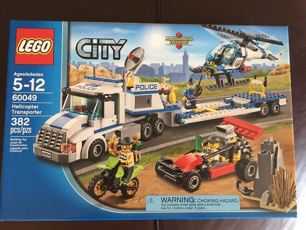 Model Building New Urban City Police Force Helicopter Truck Building Block Toys Compatible With Lego City 60049 Educational Toys Best Gift Blocks