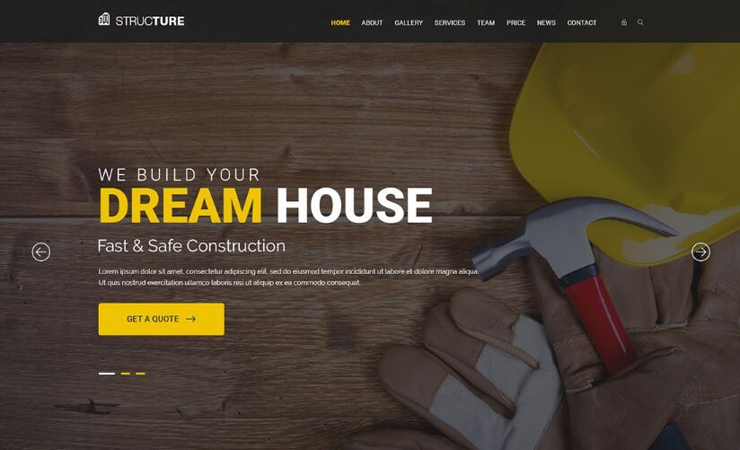 Construction Web Template PSD | Free Web/Graphic Design Resources ...