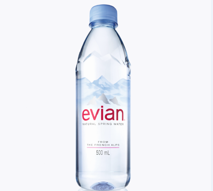 Danone Launches New Us Bottle Design For Evian Png 712 637 Natural Spring Water Evian Bottle Bottle