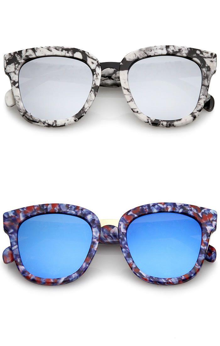 Sunglasses Thick Gold Multi Tortoise Reflective Lense Rose Frame 8PX0nwOZNk