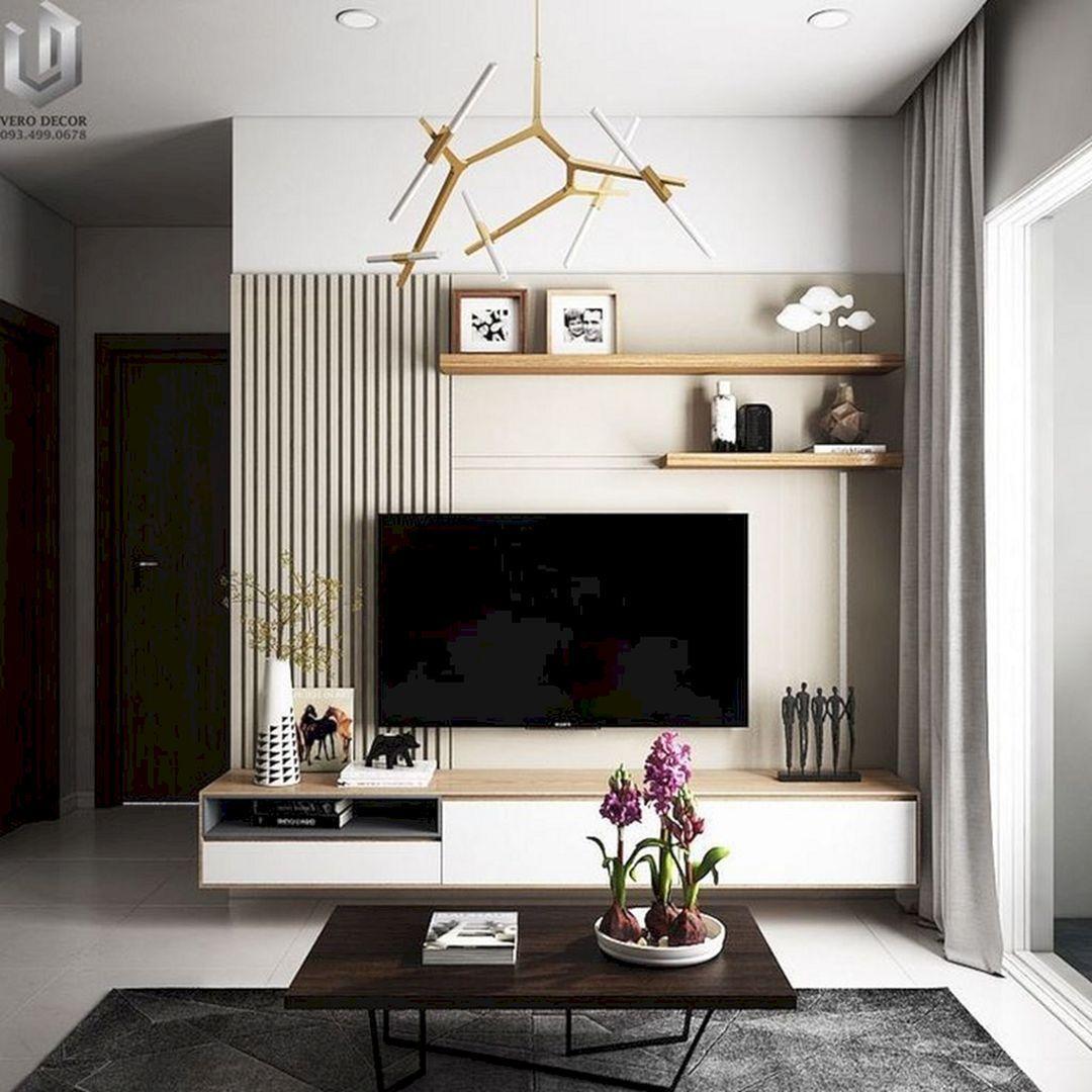 10 Fabulous Wall TV-Design-Ideen für gemütliche Wohnzimmer-Wand