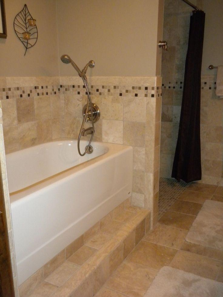 raised bath tub Standard bathtub raised off the floor