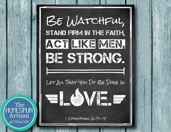 ACT LIKE MEN: Scripture Typography Artwork - Personalized ...