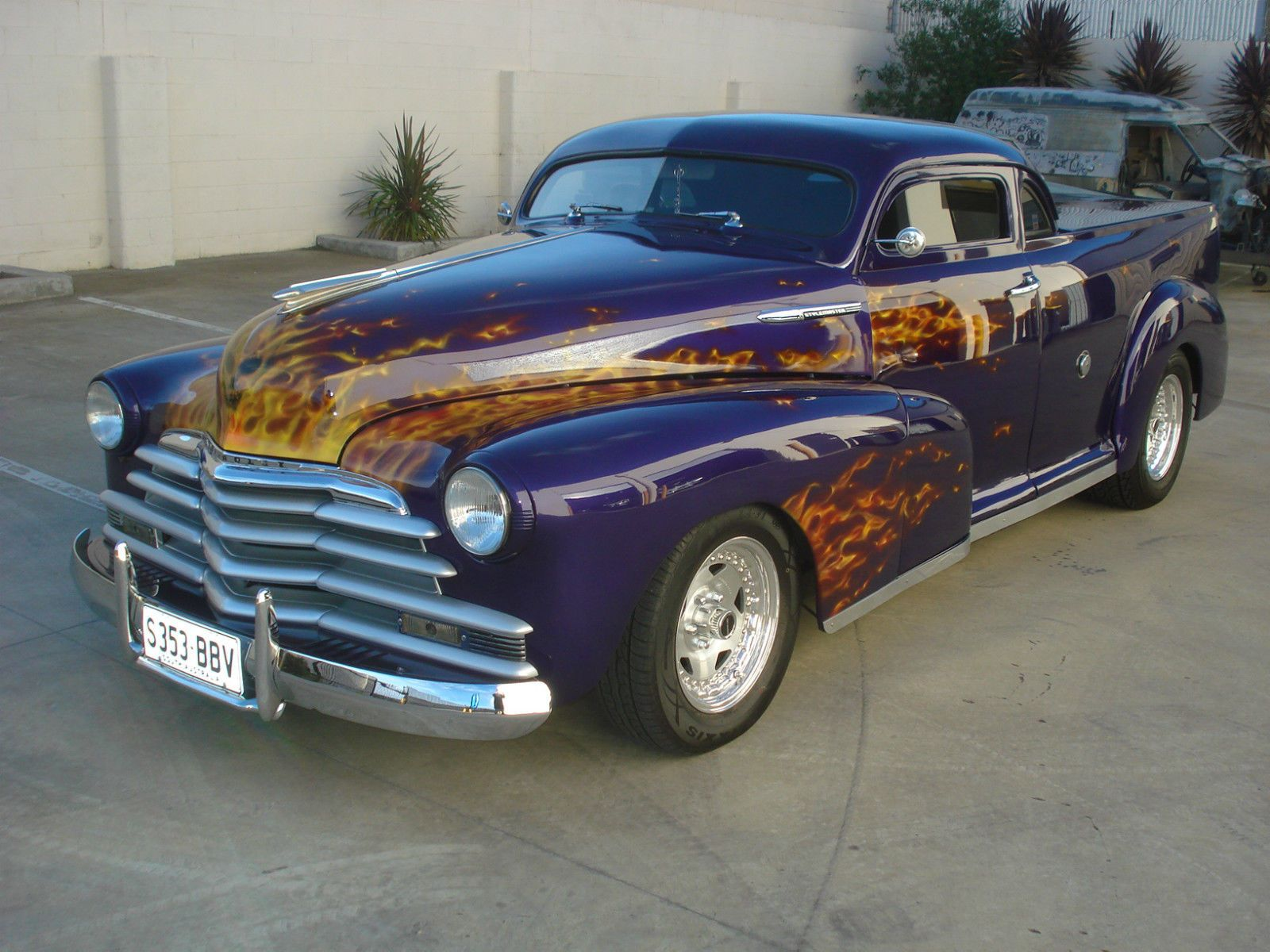1947 Chev Coupe Ute hot rod. Mounted on a Holden 1 tonne