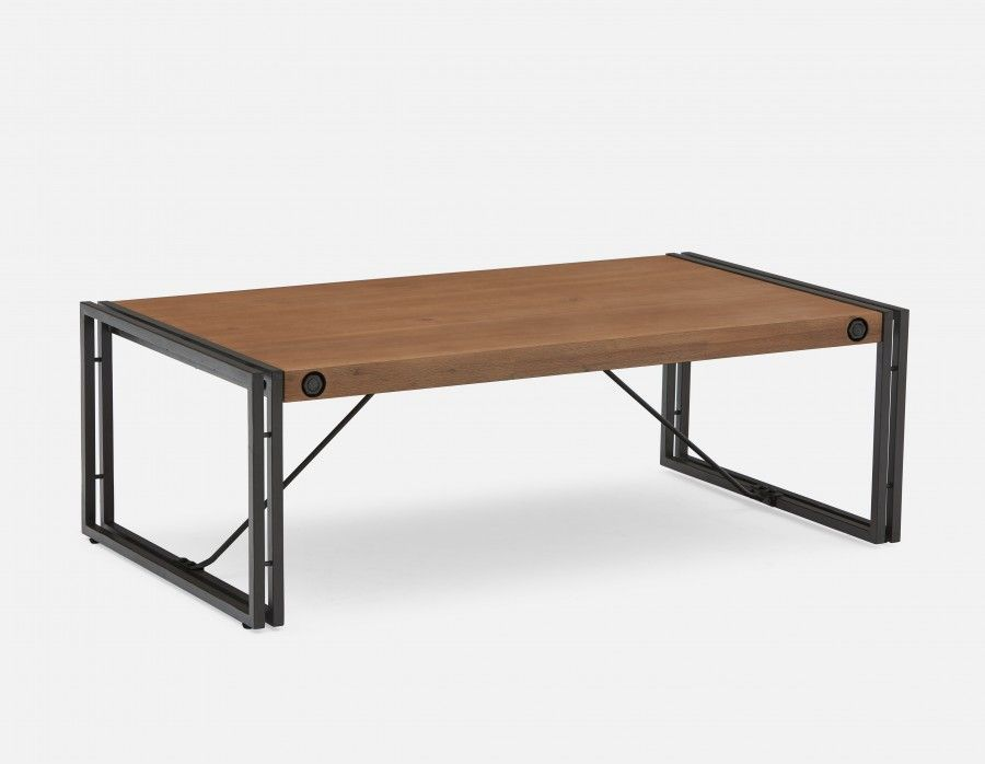 299 Cetta Table Basse En Bois D Acacia Massif Brun Fonce Coffee Table Wood Wood And Metal Coffee Table