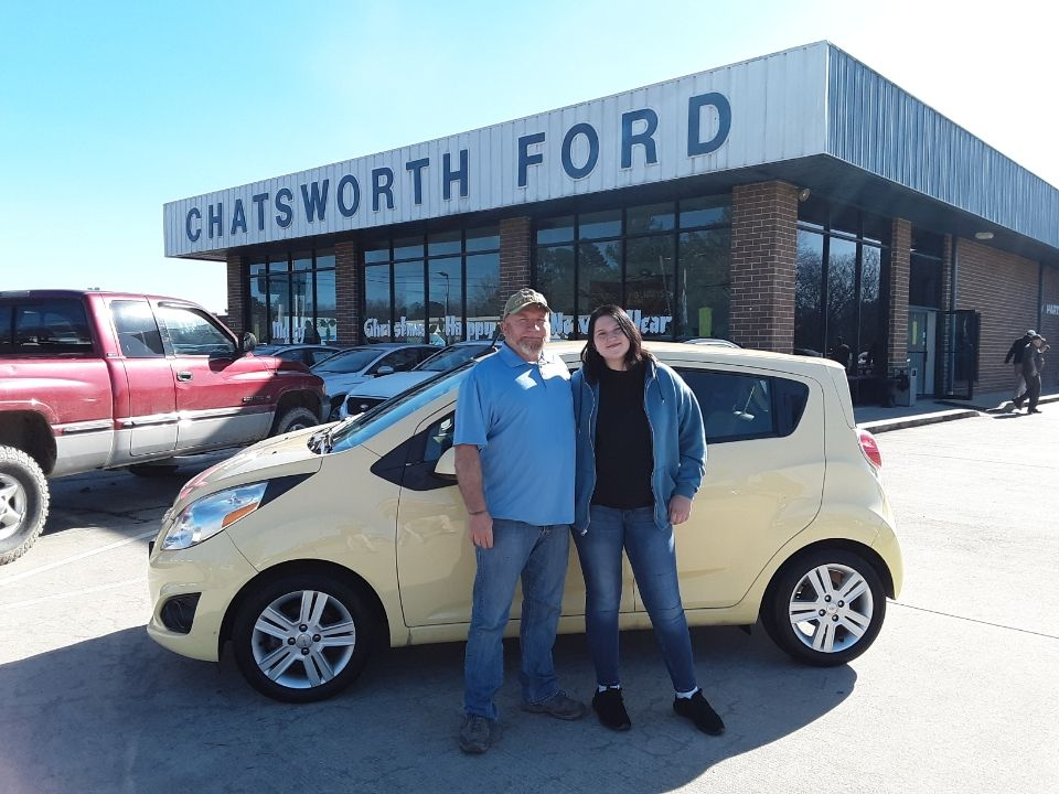 congratulations skyan mccombs of ranger ga accompanied by her father robert mccombs on your new 2013 chevy spark ford news 2013 chevy spark new and used cars pinterest