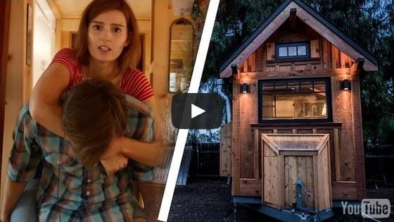 The people over at Buzzfeed set up a fun video experiment where they have a fewdifferent people trying to live in a 112 sq. ft. tiny house on wheels. It's on an 8' x 16' trailer. Inside there's ju...