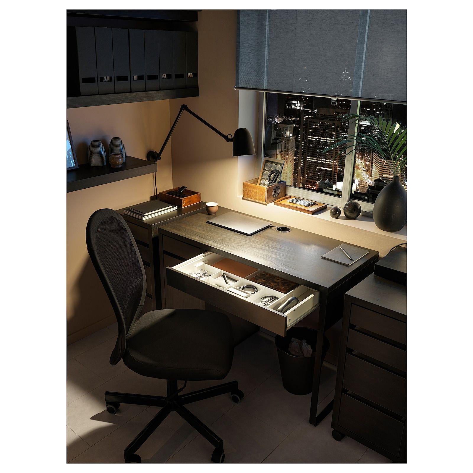 Micke Desk Black Brown 41 3 8x19 5 8 Learn More Ikea In 2020 Micke Desk Ikea Micke Desk Black Desk