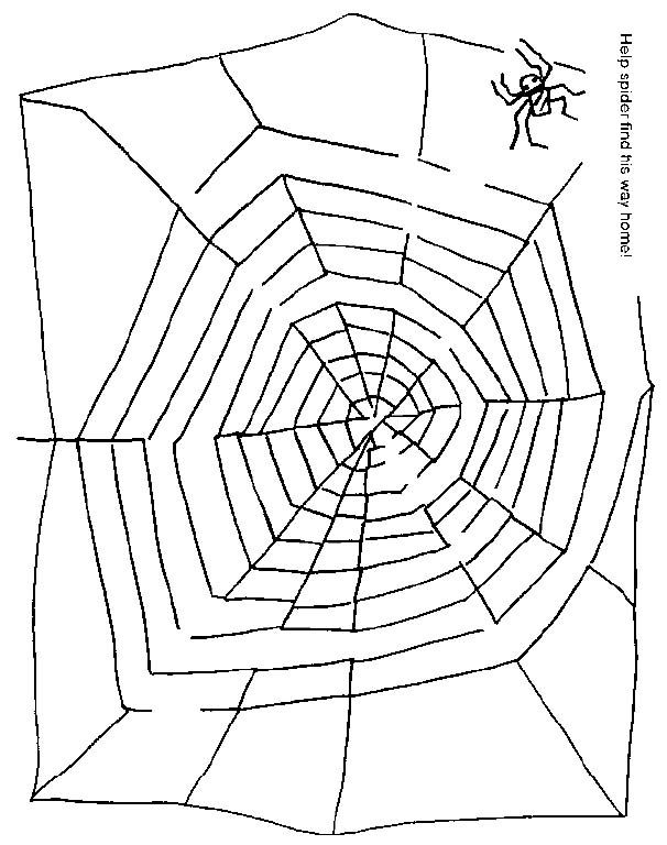 witch worksheets for preschool | halloween spider web maze | Holiday ...