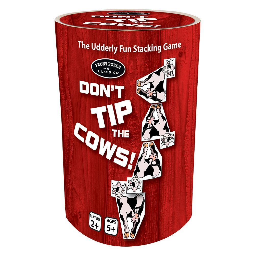 Don't Tip the Cows! Game by Front Porch Classics, Multicolor