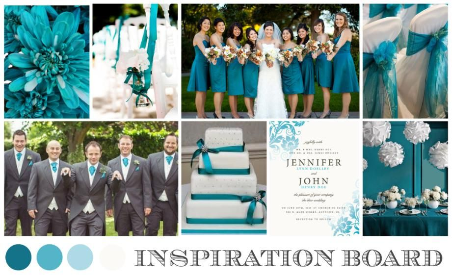 Teal And Coral Decorations