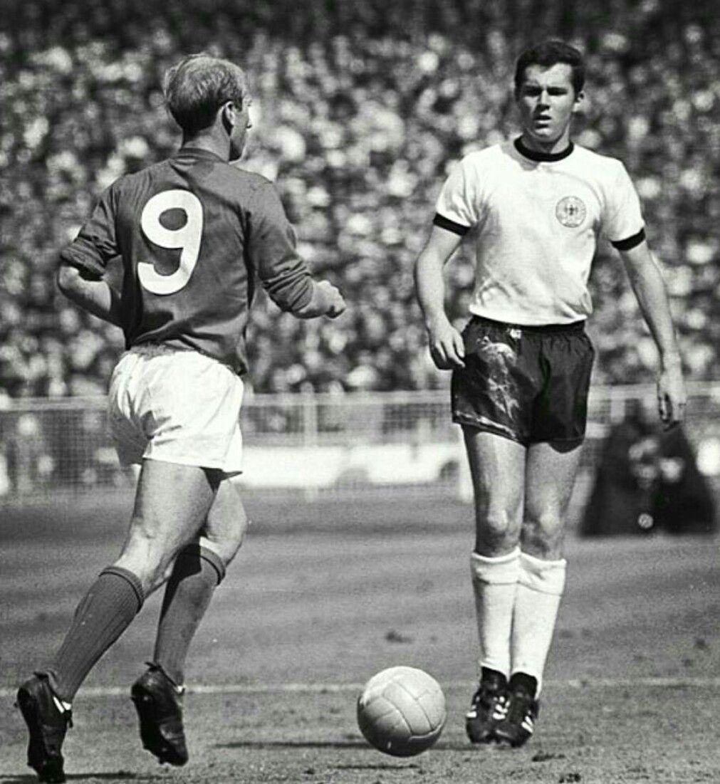 England s Bobby Charlton vs Germany s Franz Beckenbauer in World