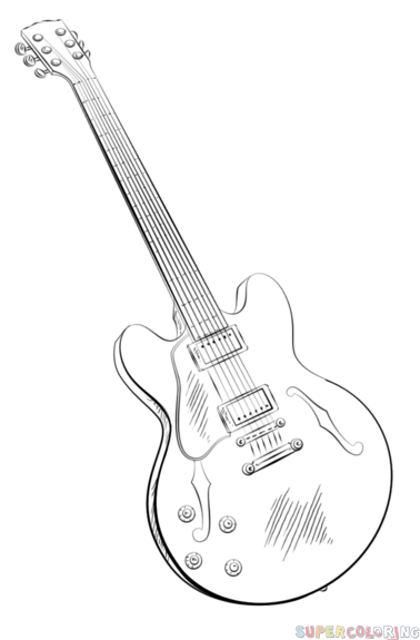 How To Draw An Electric Guitar Step By Drawing Tutorials For Kids And Beginners