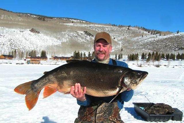 Fishing in utah record breaking lake trout fish lake for Ice fishing lake trout