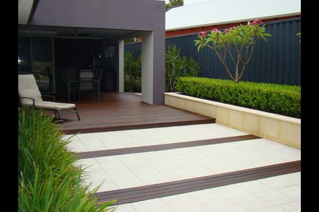 Sandstone and decking (With images) | Landscape design ...