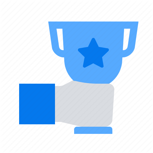 Champion Hand Trophy Icon Download On Iconfinder Icon All Icon Trophy