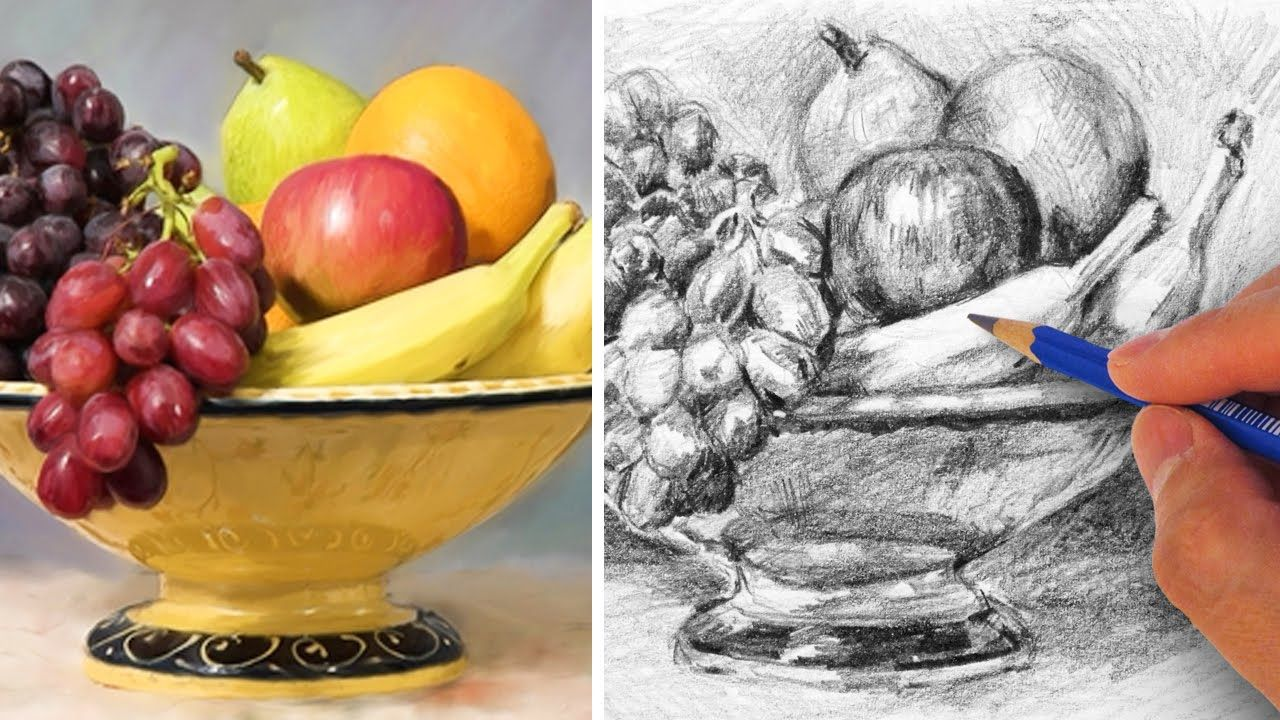 How to draw a fruit bowl with pencil art sketch books inspiration