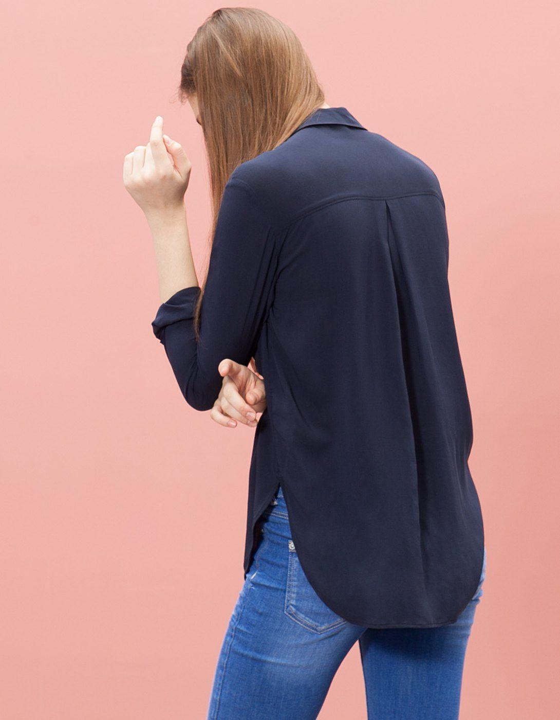 En Stradivarius encontrarás 1 Camisa con bolsillos para mujer por ...