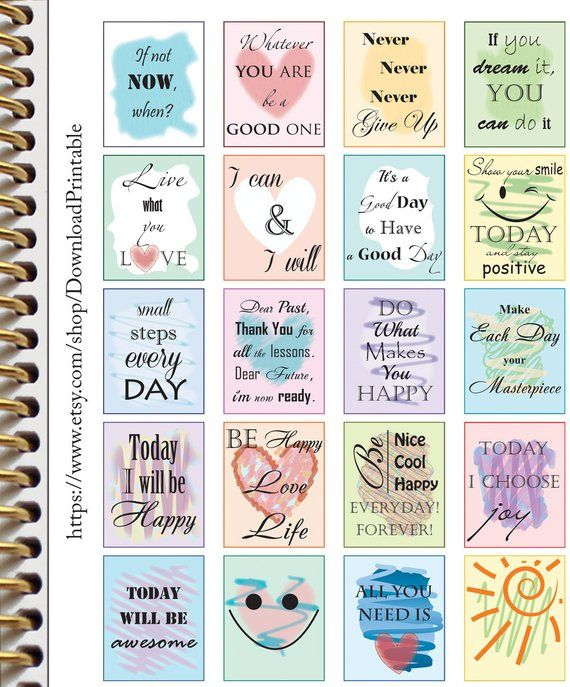 Inspirational Motivational Planner Stickers Quote Stickers ...