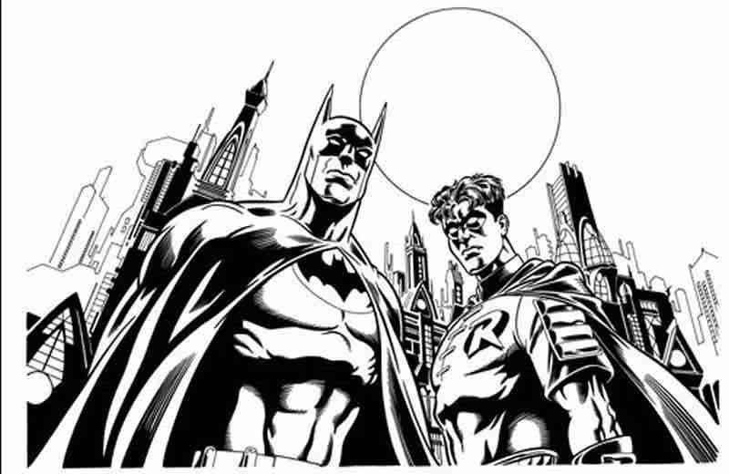 coloriage 6 dessin Batman | ♥♥Colour me crazy♥♥ | Pinterest