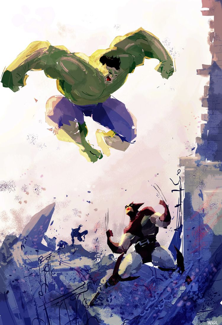 #Hulk vs #Wolverine by Pascal Campion