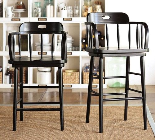 Captain S Swivel Barstool Pottery Barn Traditional