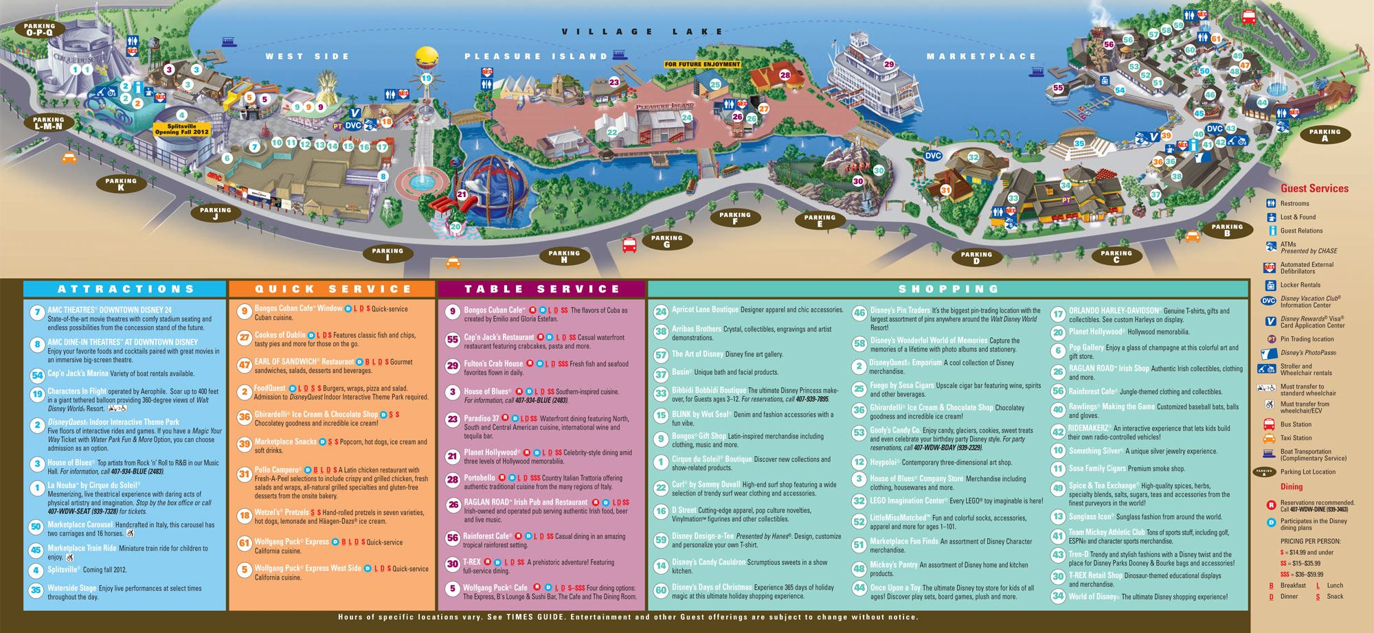 Downtown disney map changes to parking due to downtown disney disney springs map walt disney world gumiabroncs Images