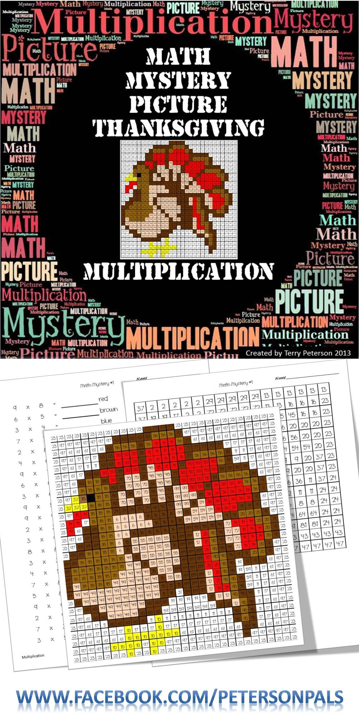 Thanksgiving Math Mystery Picture Multiplication
