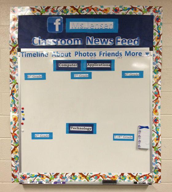 Social media classroom theme